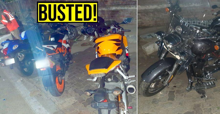 Suzuki Hayabusa, Honda CBR Fireblade, Harley Davidson & more SEIZED for loud exhausts