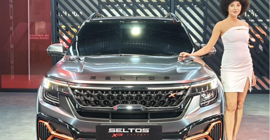 175 Bhp Kia Seltos X-Line showcased at 2020 Auto Expo