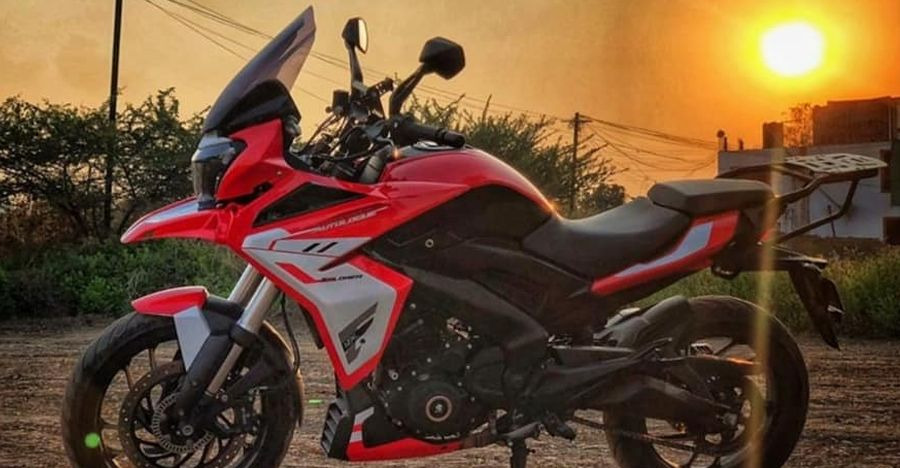 Bajaj Dominar with AutoLogue kit wants to be an Africa Twin