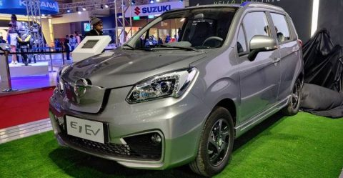 Haima Bird Electric Hatchback At The Auto Expo