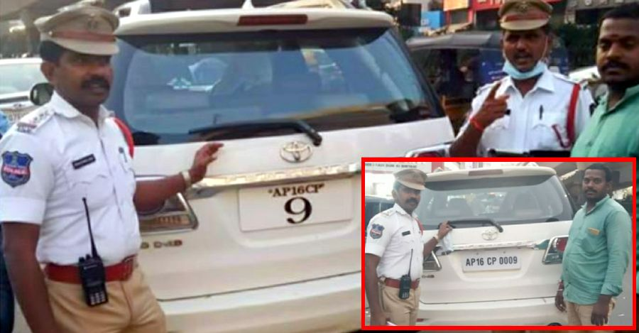 Cops bust Toyota Fortuner owner for faulty numberplate: Let him go after fixing numberplate