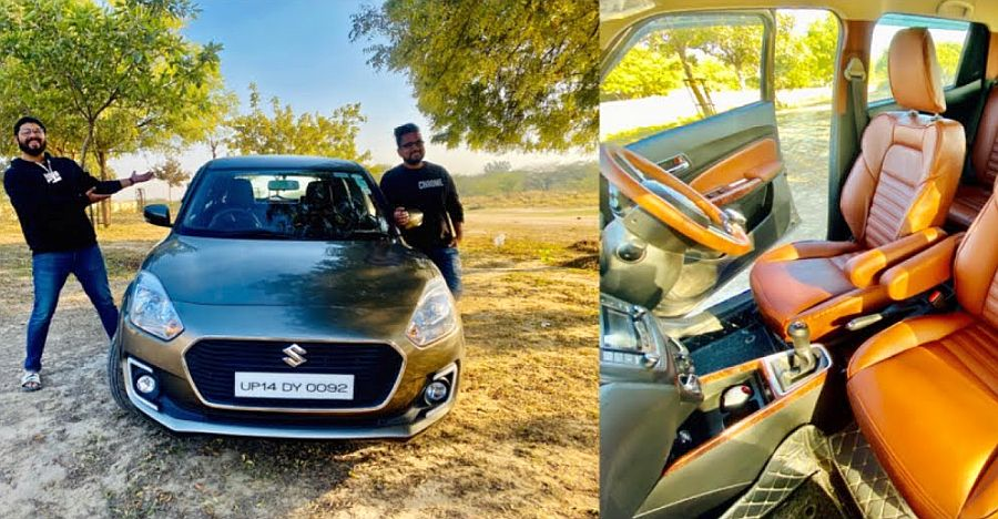 This modified Maruti Swift hatchback gets seats with massage function [Video]