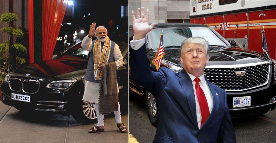 Donald Trump's Cadillac One vs Narendra Modi's BMW 7-Series High Security Edition!