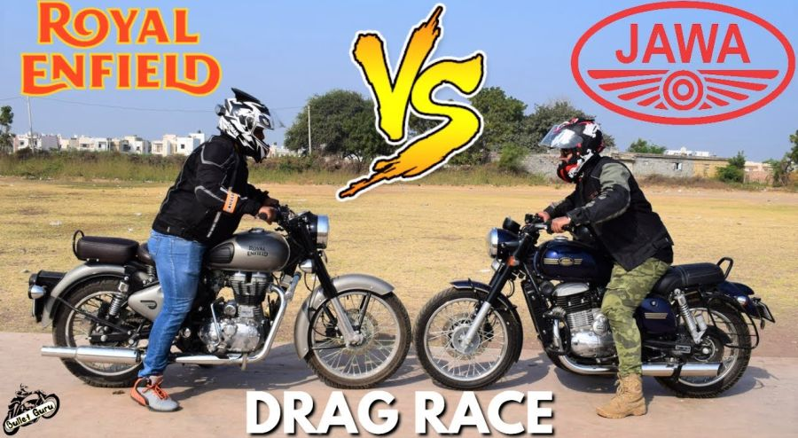 Royal Enfield Classic Vs Jawa 42 Drag Race Featured