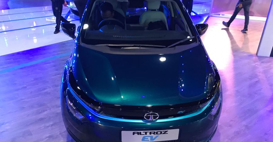 Tata Altroz electric car showcased at 2020 Auto Expo
