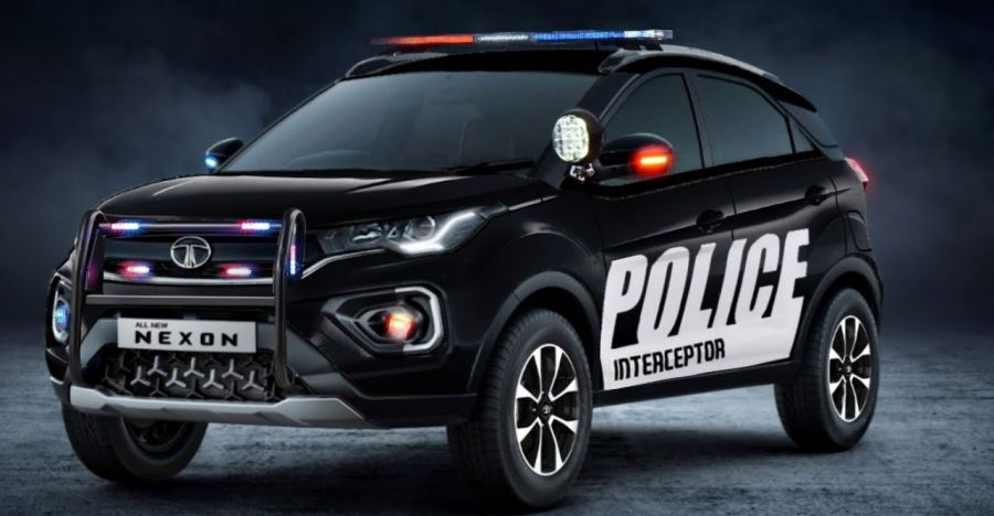 Tata Nexon as a police car: What it'll look like [Video]