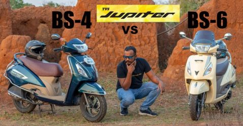 Tvs Jupiter Bs4 Vs Bs6 Mileage Test
