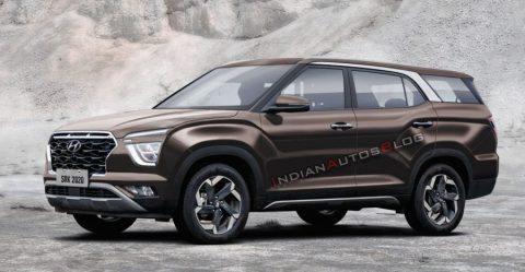 2020 Hyundai Creta 7 Seater Render