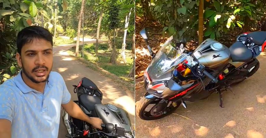 Biker loses bike to Corona Virus: TVS Motors gifts him an Apache RR310