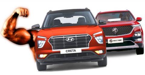 Hyundai Creta Vs Mg Hector Featured