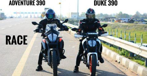 Ktm Adventure 390 Vs Duke 390 Featured