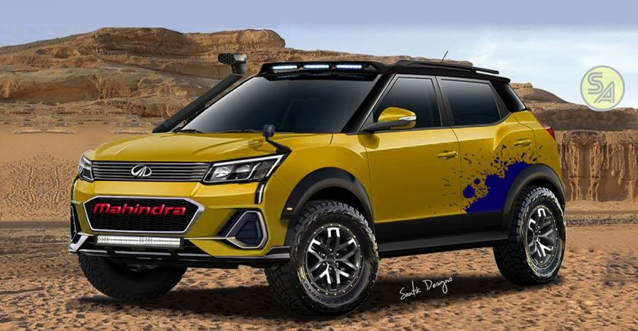 Mahindra Xuv300 Off Road Render