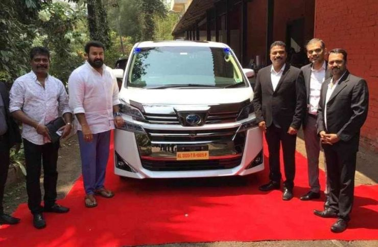 Malayalam superstar Mohanlal's latest ride is a Toyota Vellfire Luxury MPV
