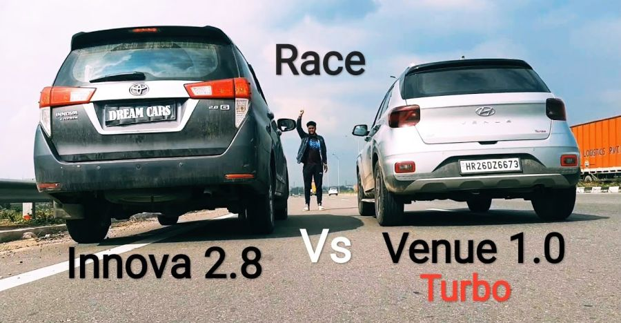 Can the Hyundai Venue beat the Toyota Innova Crysta: This drag race will tell you