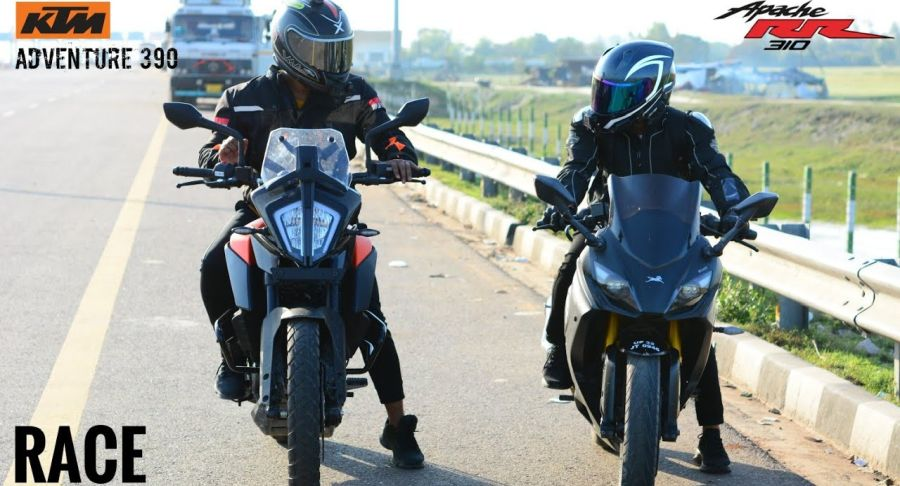 Ktm Adventure 390 Vs Tvs Apache Rr 310 Featured