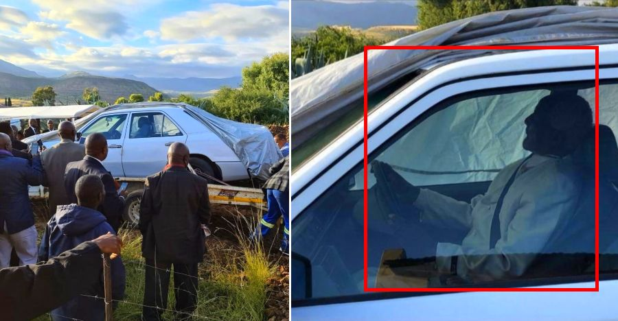 Politician's last wish was to get buried in his Mercedes Benz: Fulfilled! [Video]