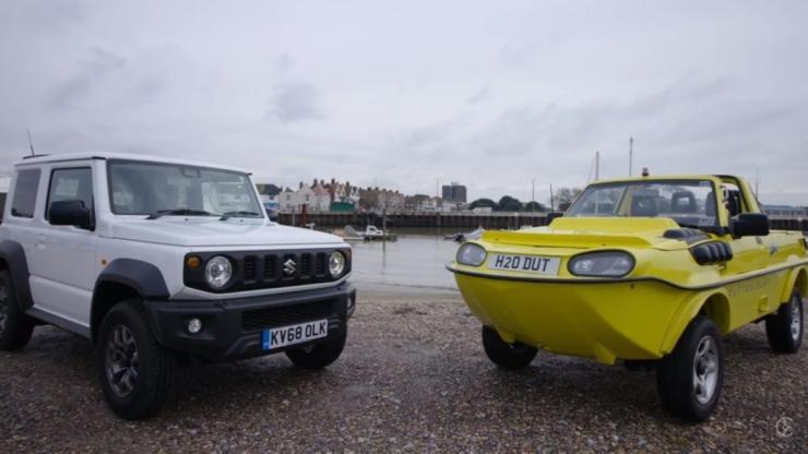 Suzuki Jimny transformed into an amphibious vehicle that can literally swim [Video]