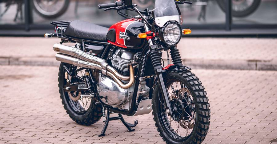 Royal Enfield Interceptor MCH is officially commissioned Scrambler with more power