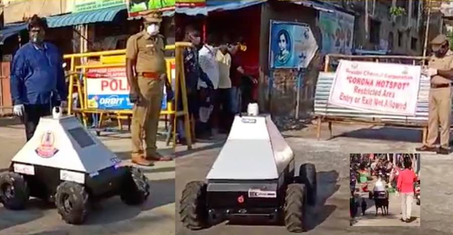 Chennai Police are using high-tech robots in Corona Virus red zones: Watch robots in action  [Video]