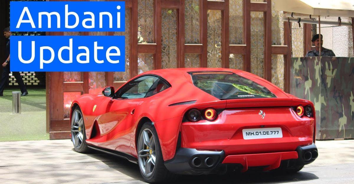 Ambani's new supercars – Ferrari 812 and McLaren – on video