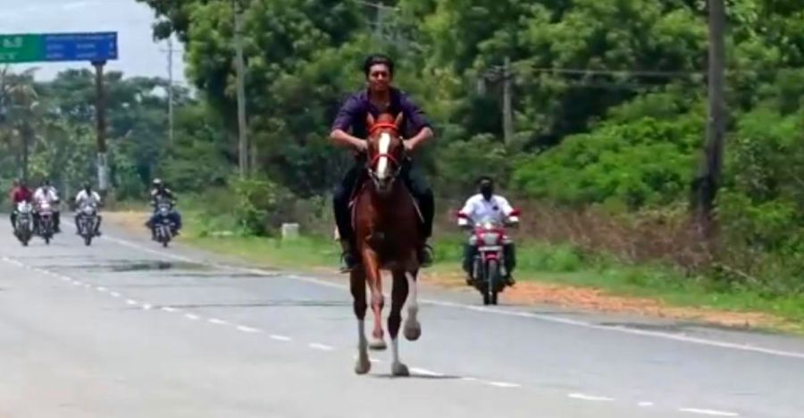 BJP MLA's son breaks lockdown and rides horse on national highway: Video