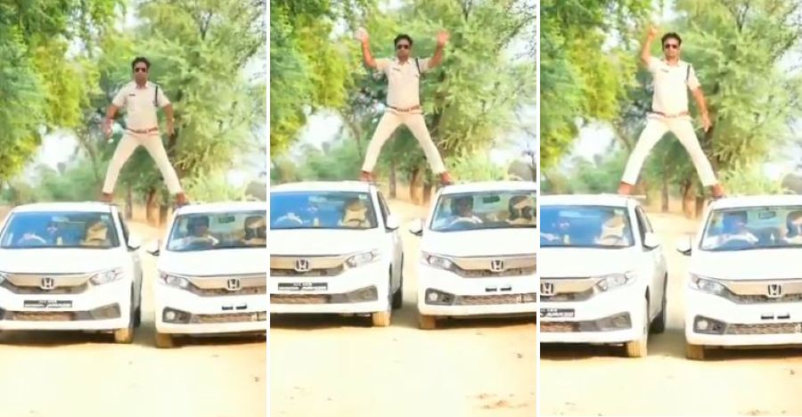 Madhya Pradesh cop uses two Honda Amaze sedans to recreate Singham stunt: Fined Rs. 5000 [Video]