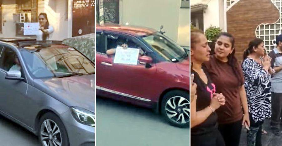 Condolence meeting happens through a car rally to maintain social distance [Video]