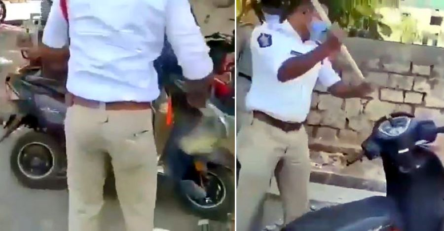 Watch a cop intentionally damage Honda Dio & other scooters of lockdown violators  [Video]