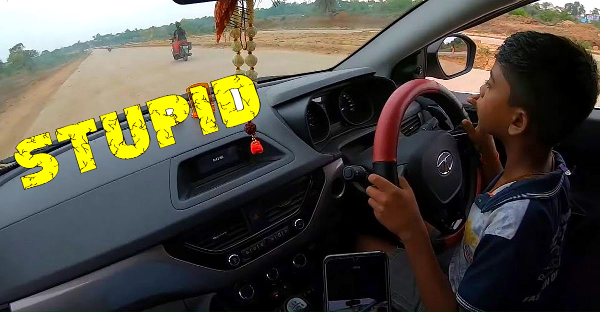 Letting a 10 year old kid drive a Tata Nexon on public roads is absolutely STUPID [Video]
