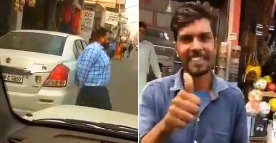 Watch a burly Mahindra TUV300 owner lift a Maruti Dzire out of his way, & roll on [Video]