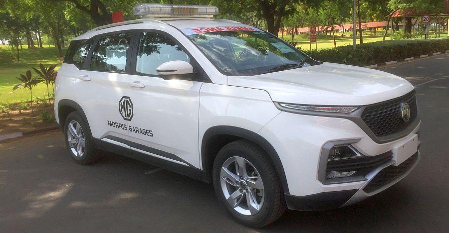 MG Motor donates modified Hector Ambulance for Corona virus relief work