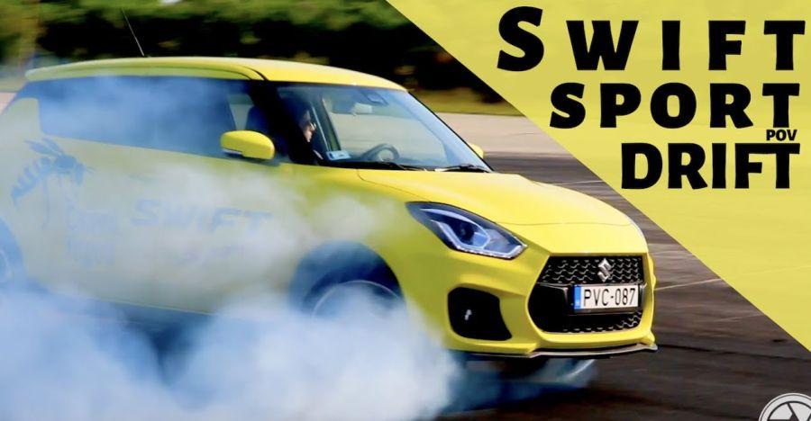 Watch this front-wheel drive Suzuki Swift Sport drift like a BOSS [video]