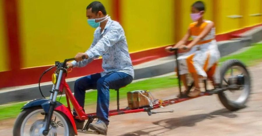 Tripura man builds electric bike to practice social distancing during COVID-19 [Video]