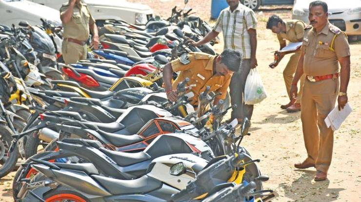 7,413 vehicles seized in Chennai in a single day of Lockdown 2.0