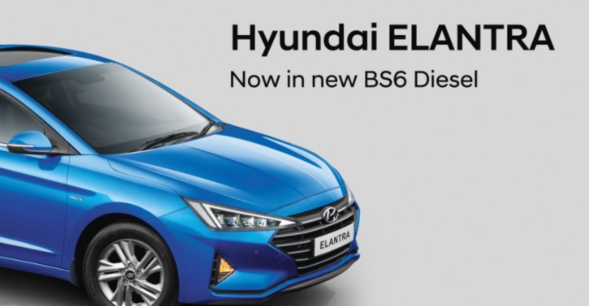 2020 Hyundai Elantra BS6 Diesel sedan launched in India