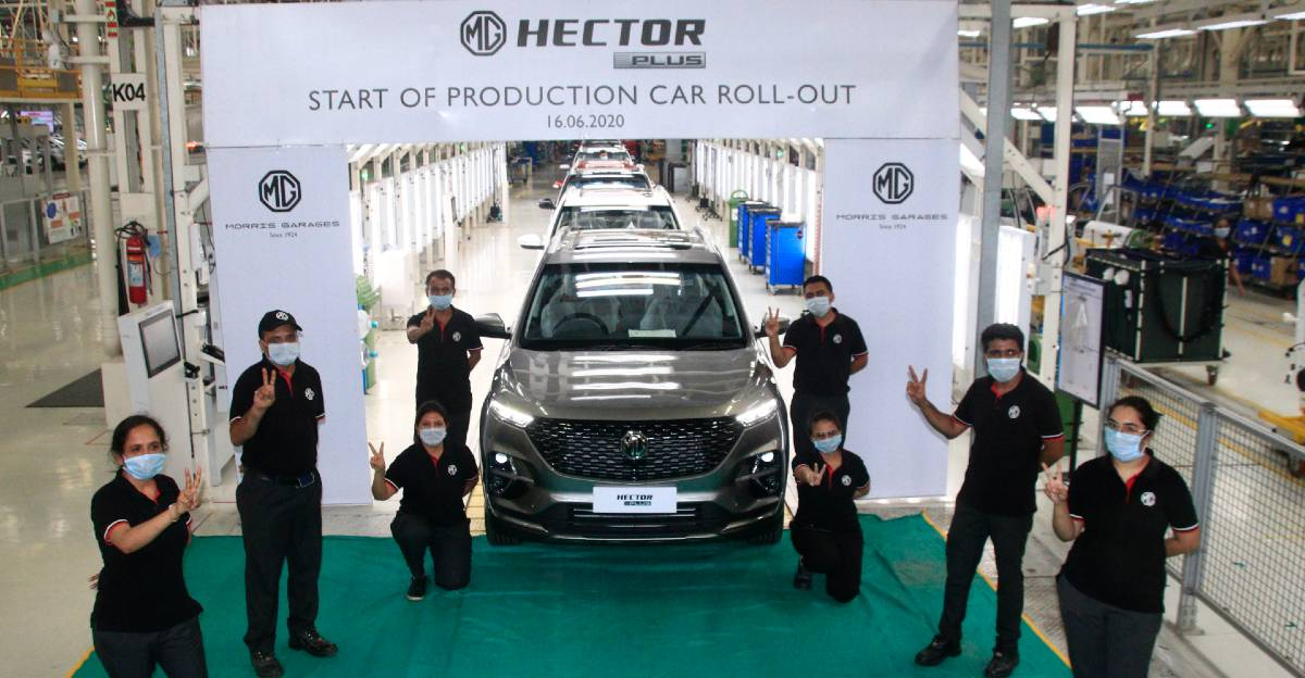 MG Hector Plus production begins in India before official launch