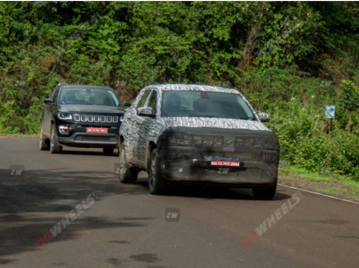 Jeep Compass facelift spotted testing in India before launch