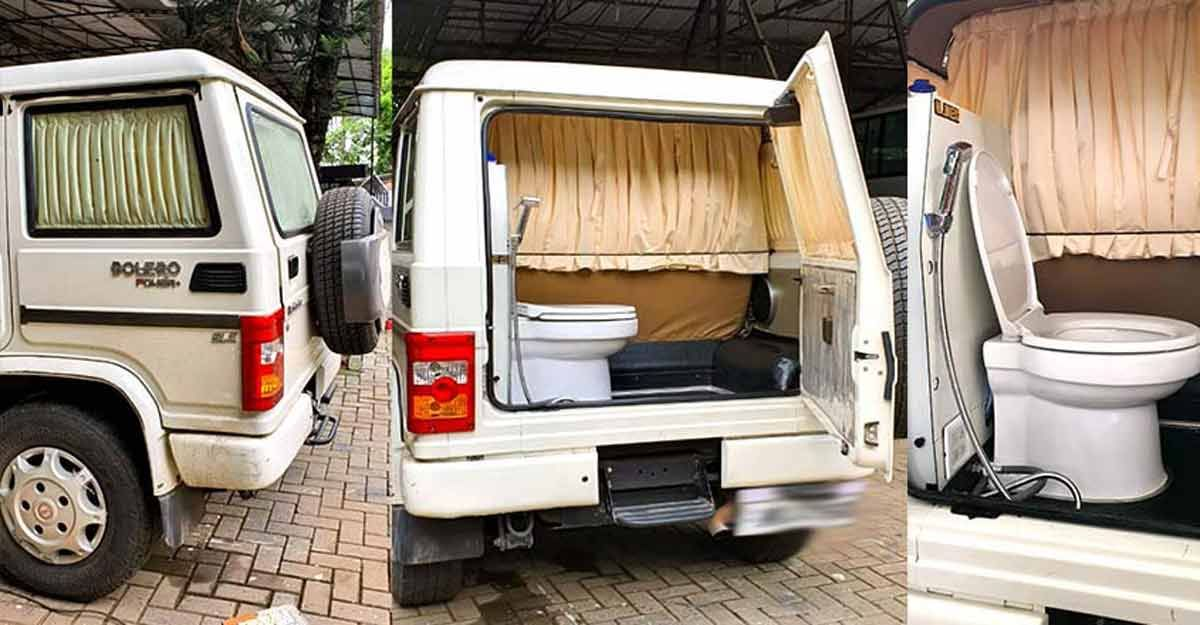 This Mahindra Bolero with built-in toilet is a dream of every camper [Video]