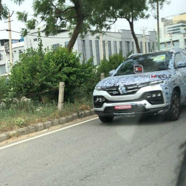Renault Kiger sub-4 meter SUV loses some camouflage: Maruti Brezza & Hyundai Venue rival