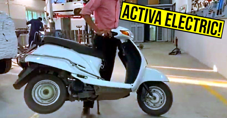Honda Activa transformed into an Electric Scooter at home [Video]
