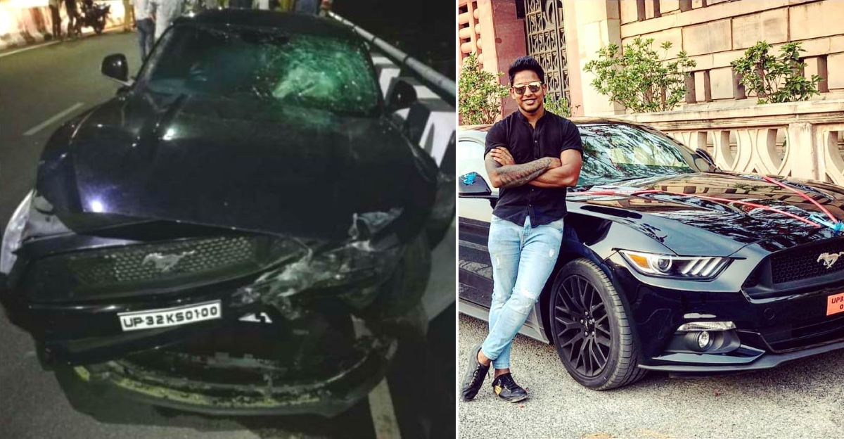 India under-19 cricket team vice captain's Ford Mustang GT loses control: HITS two cars on flyover [Video]