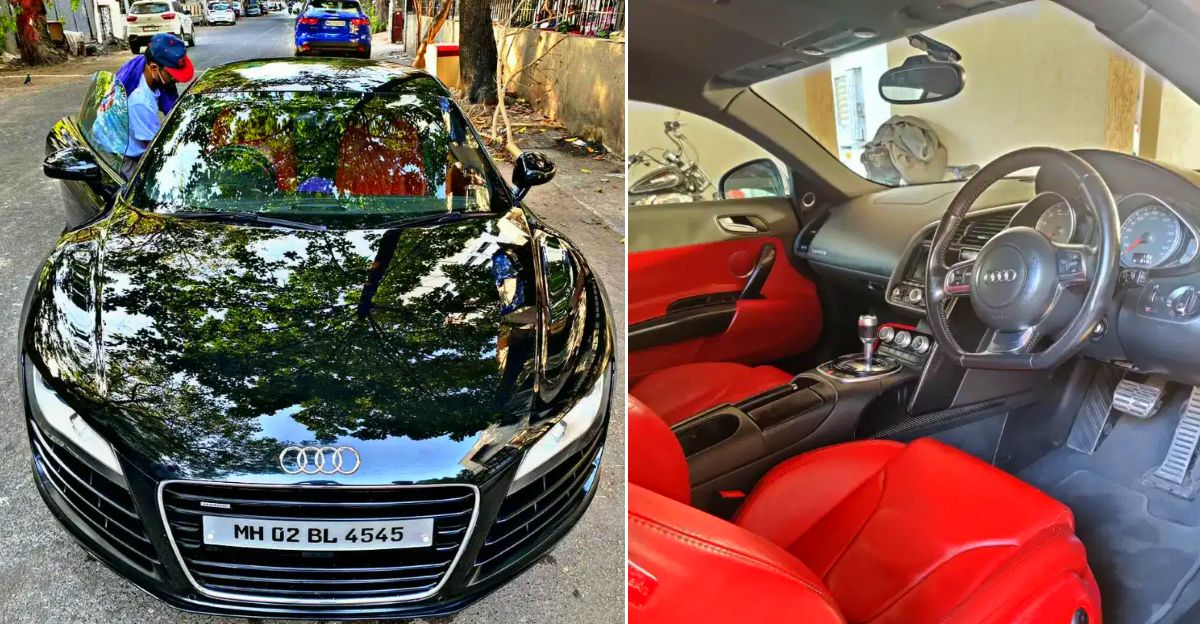 Beautifully kept, used Audi R8 supercar selling at Toyota Fortuner price