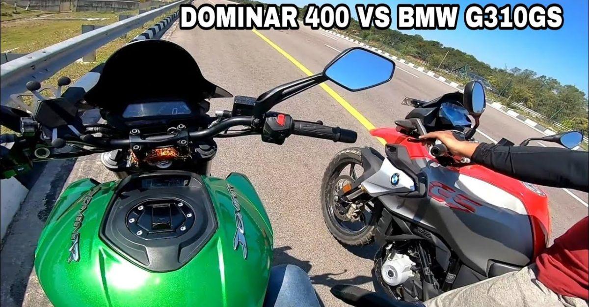 Bajaj Dominar 400 vs BMW G310 GS in a top-end race [video]