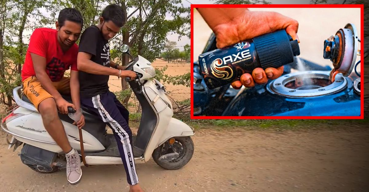 Can a Honda Activa run on deodorant? Well, check this out [Video]