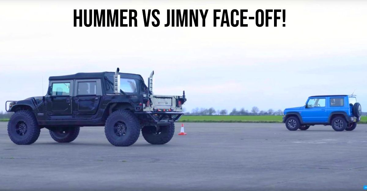 Hummer H1 vs Suzuki Jimny in a drag race [Video]
