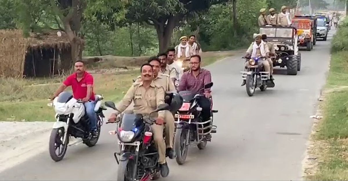 UP cop gets a massive convoy 'farewell' during lockdown: SUSPENDED [Video]