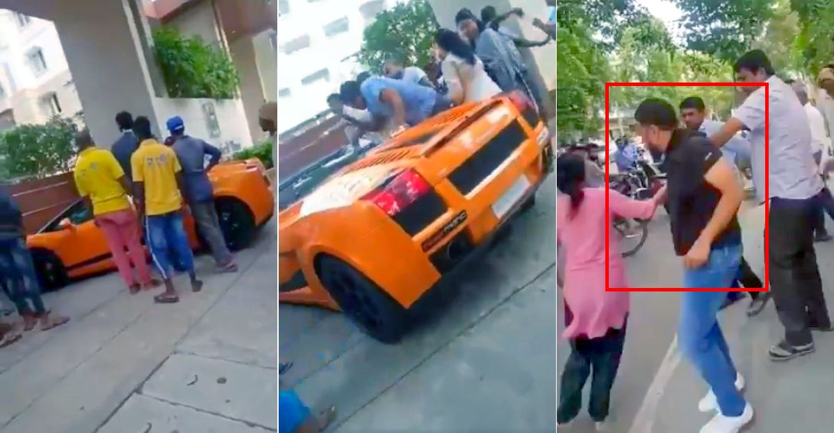 Lamborghini Gallardo Spyder owner thrashed in Bangalore for allegedly speeding, loud exhaust [Video]