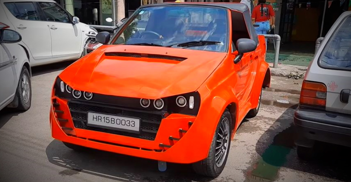 This modified Maruti 800 wants to be a 2-seater convertible sportscar [Video]