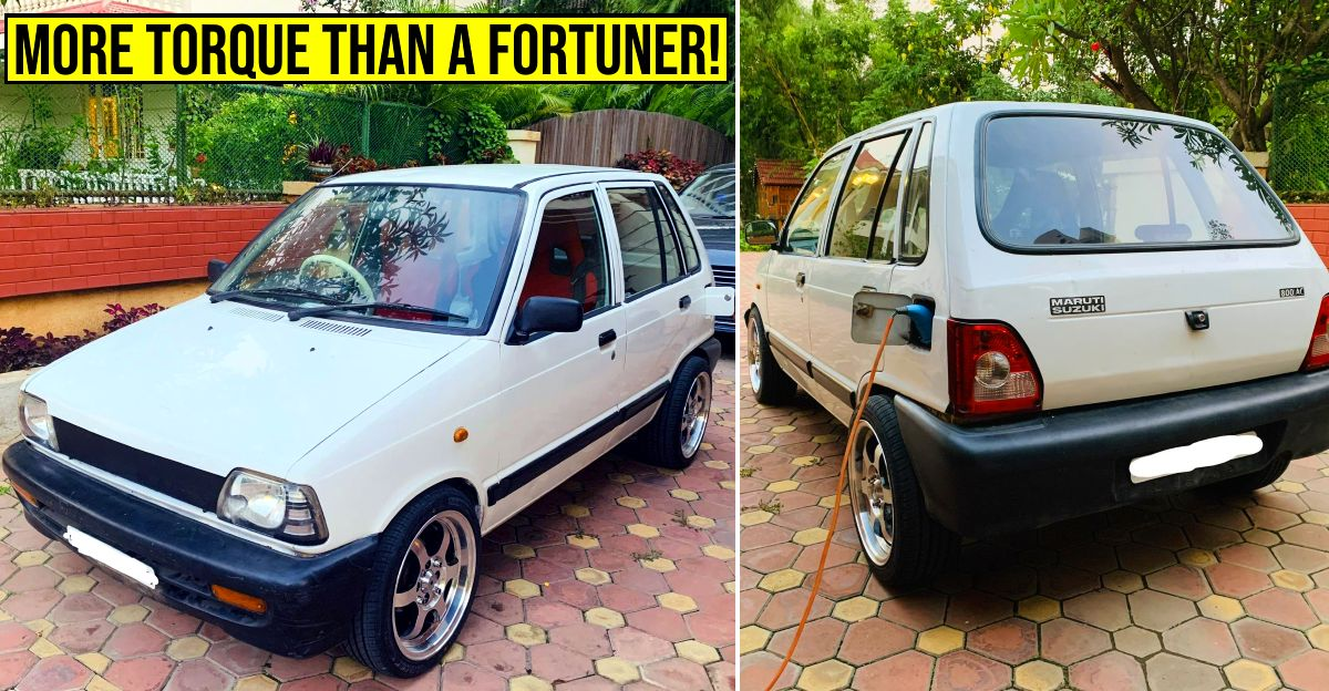 Maruti 800 'electric car' makes more torque than a Toyota Fortuner [Video]