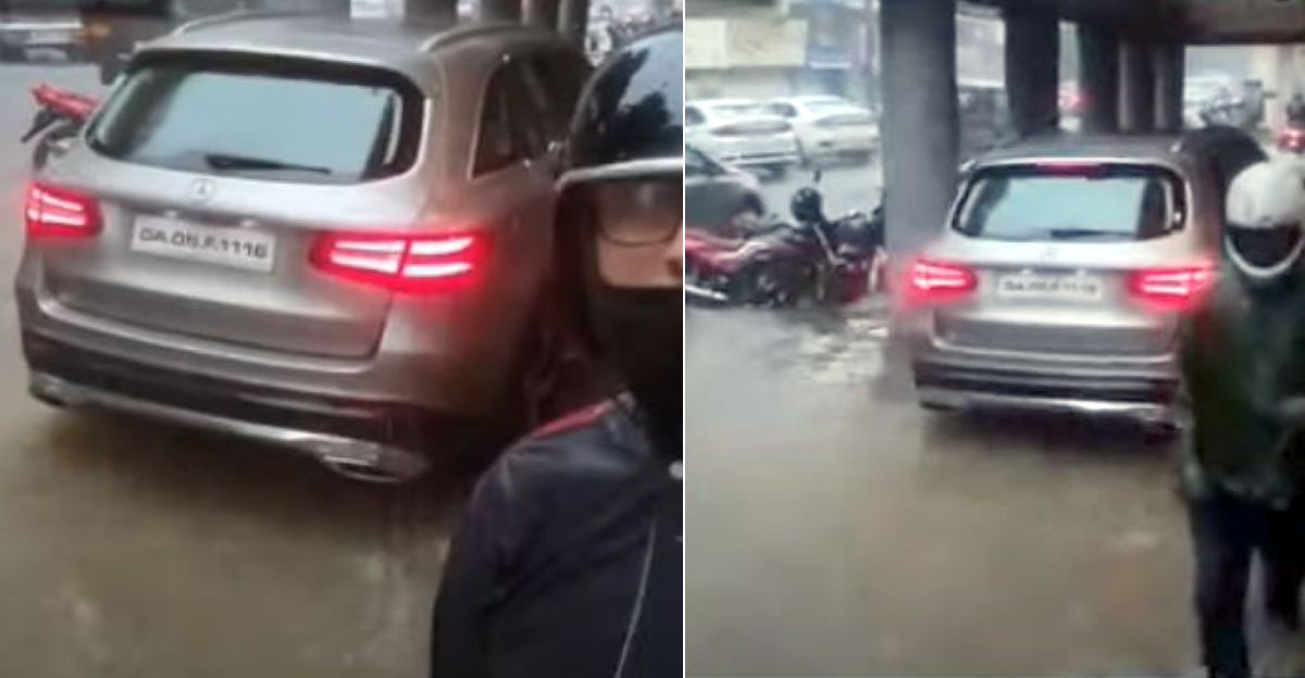 Mercedes Benz SUV driver BUSTED for driving on footpath [Video]